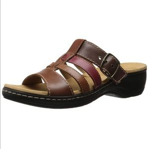 Clarks Collection, Soft Cushion Tricolor Sandals